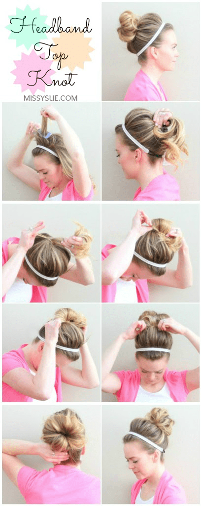 Headband Top Knot Tutorial
