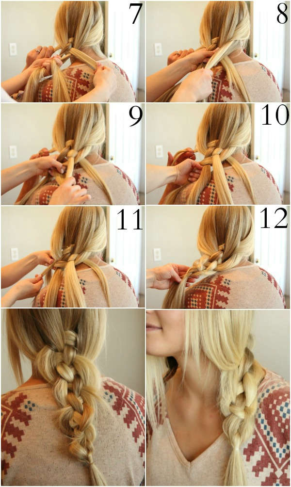 Perfectly Messy 5 Strand Braid Missy Sue