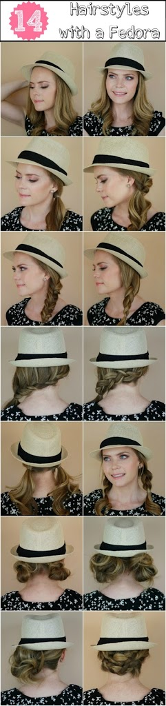 14 Hairstyles with a Fedora | MissySue.com