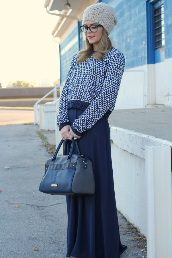 Cropped Sweater Maxi Skirt