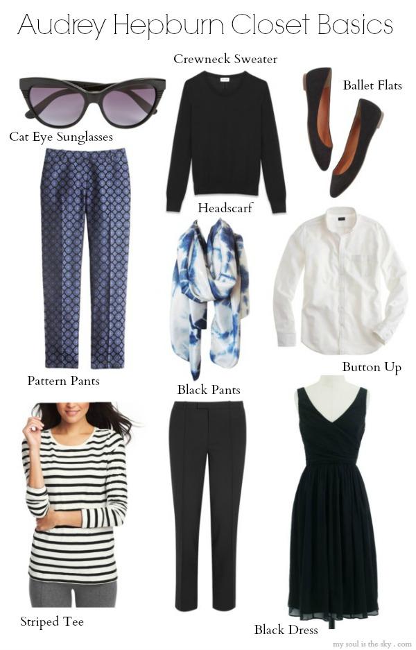 Audrey Hepburn Closet Basics