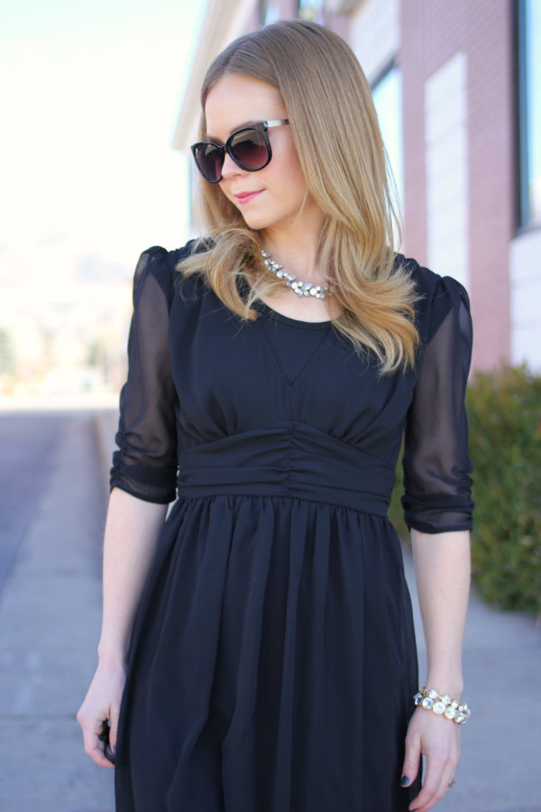 Black ASOS Midi Dress