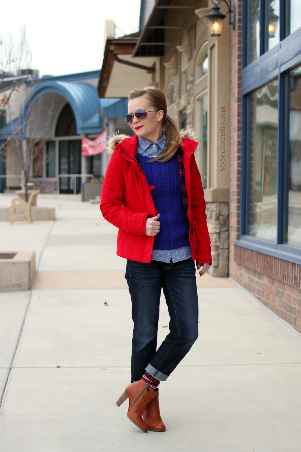 Red Coat Madewell Booties