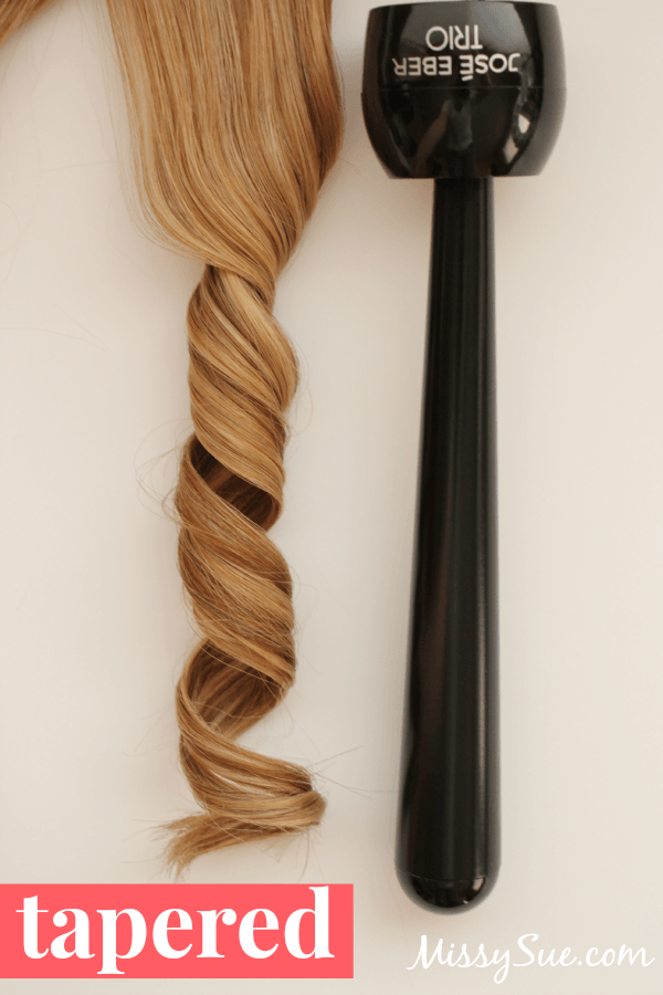 Curling Iron Sizes tapered