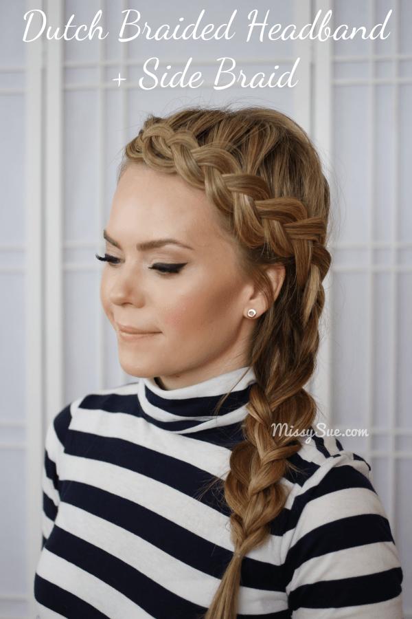 Dutch headband braid via #missysue, #hairtutorial