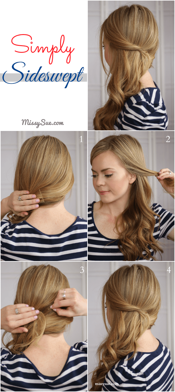 Wondrous Easy Side Swept Waves Missy Sue Short Hairstyles Gunalazisus