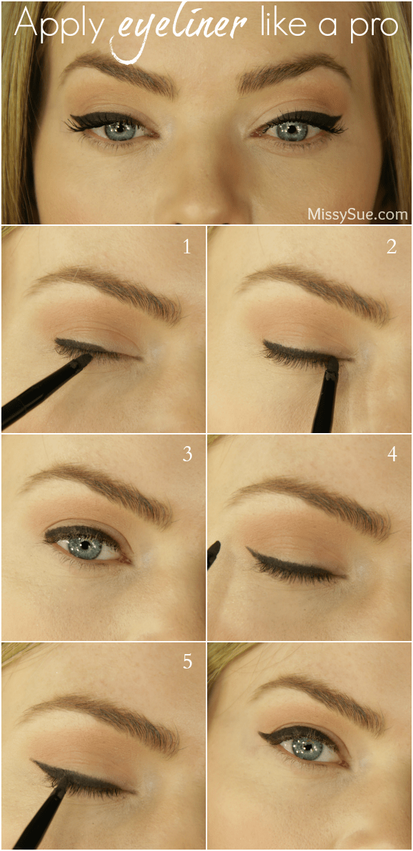 How To Apply Eyeliner + Cat Eye Tutorial