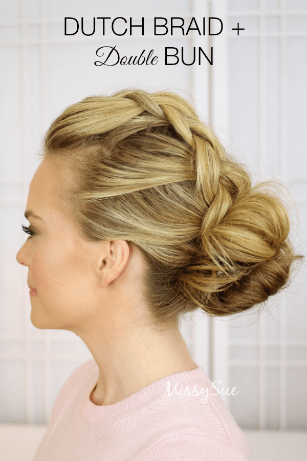 dutch-braid-and-double-bun