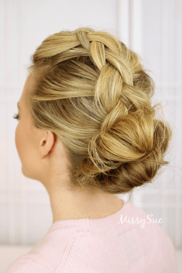 Wondrous Braid 9 Dutch Braid And Double Bun Missy Sue Hairstyle Inspiration Daily Dogsangcom