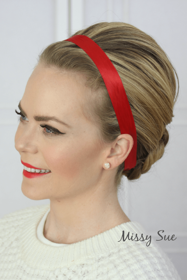 braided-bun-with-red-ribbon