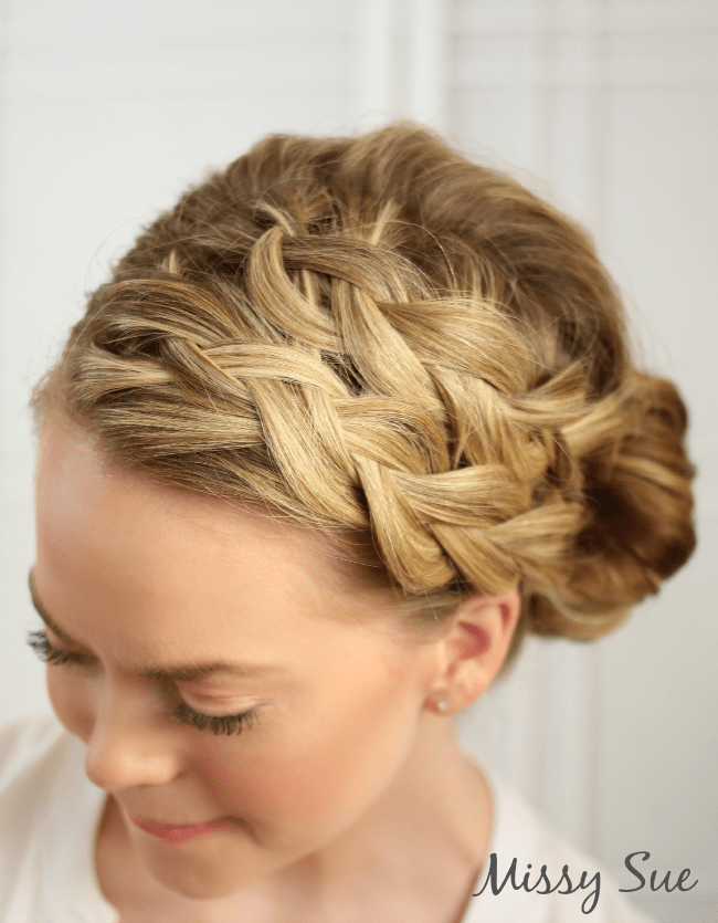braided hair bun styles pin flower braid updo hairstylesjpg on 7753
