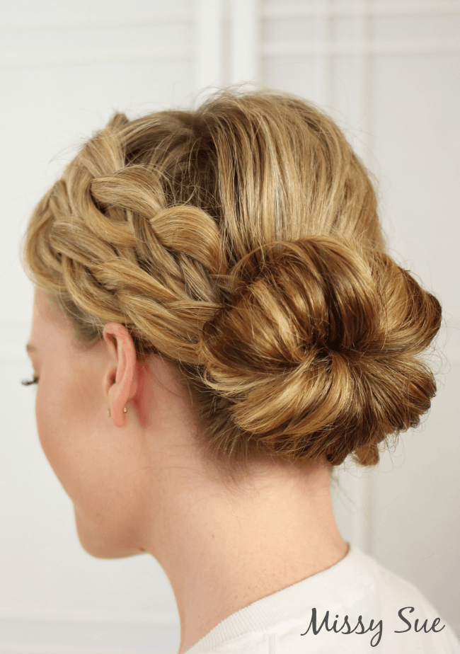 double-dutch-braids-donut-bun-hair