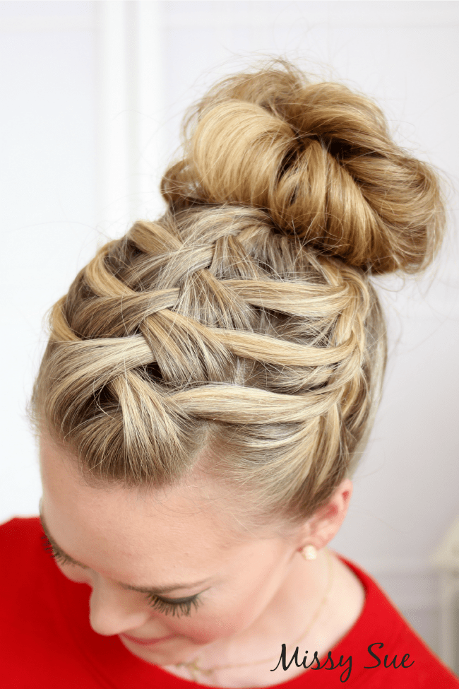 Triple French Braid Double Waterfall