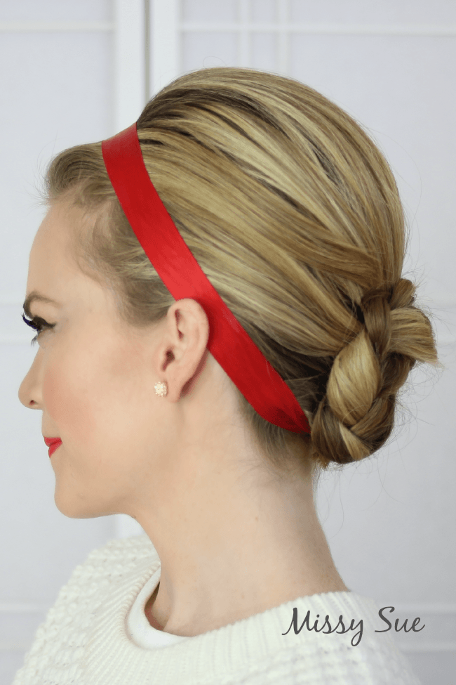 red-ribbon-braided-bun-missy-sue-blog