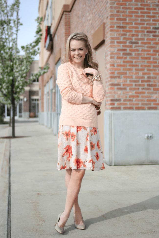 spring-floral-dress-pastel-sweater