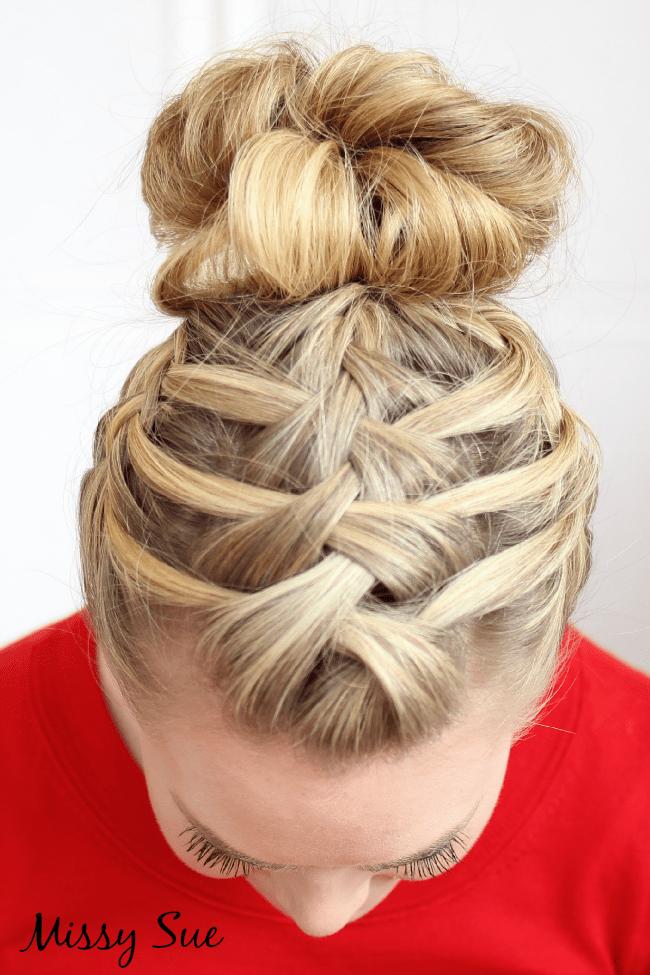 Astounding Braid 14 Triple French Braid Double Waterfall Missy Sue Hairstyles For Women Draintrainus