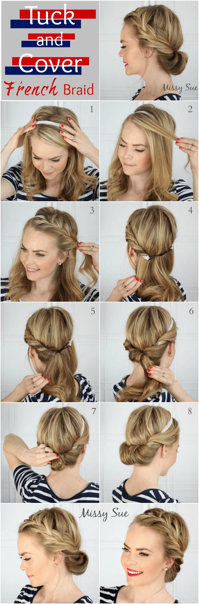 Pleasant How To Do A French Braid Easy Hair Tutorial Best Hairstyles 2017 Short Hairstyles Gunalazisus