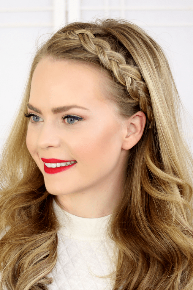 Half Dutch Braid: Make a bold statement with a chunky braided headband that lines the edge of your forehead. Bonus: This tutorial has three additional braided headband options (think French, Lace and Full Dutch).