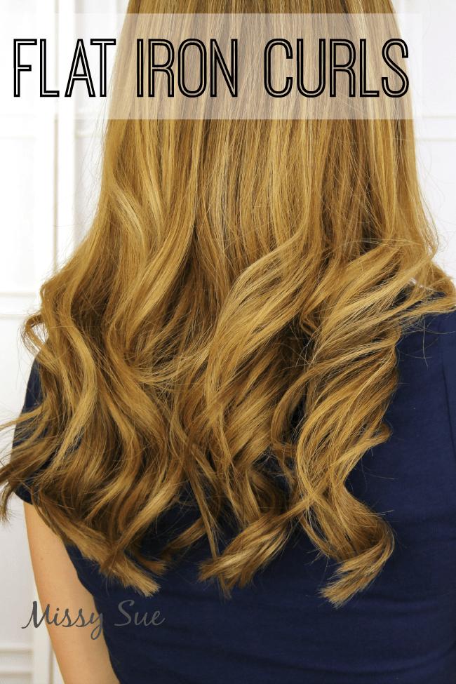 Flat Iron Curls Tutorial   MissySue.com