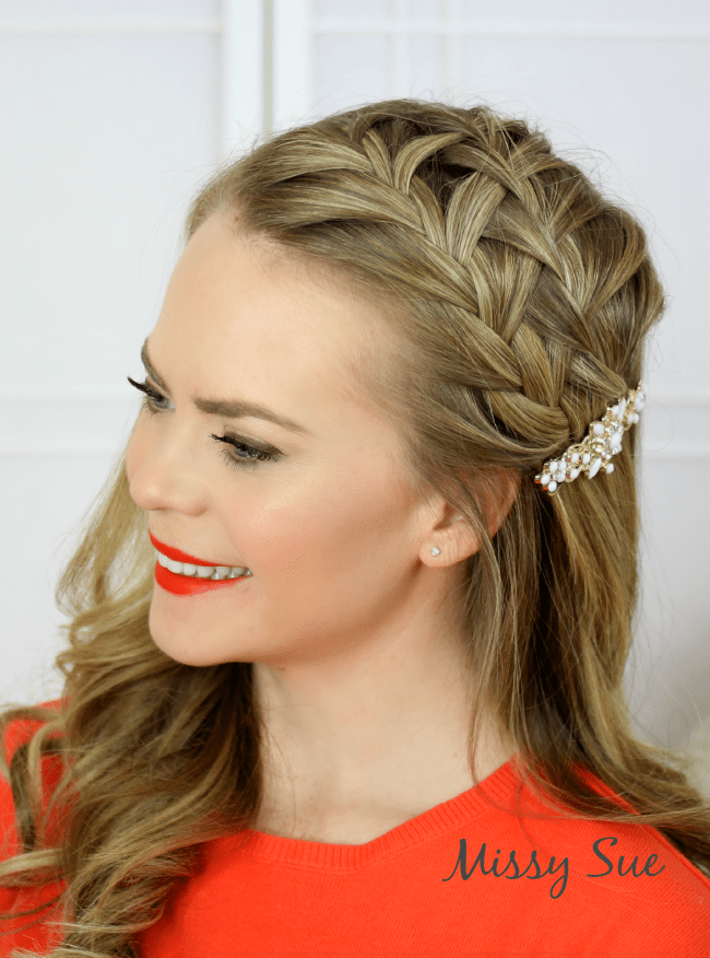 double-headband-waterfall-braid