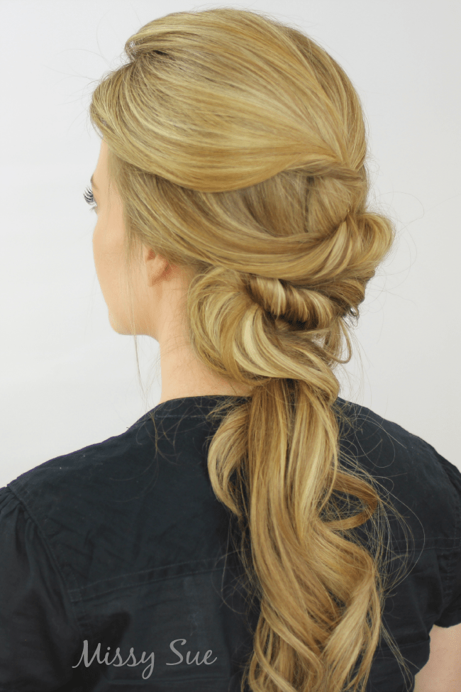 Twisted Low Ponytail | MissySue.com