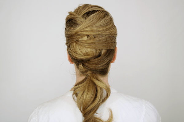 Woven Low Ponytail