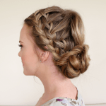 Double Waterfall Braids and Fishtail Bun