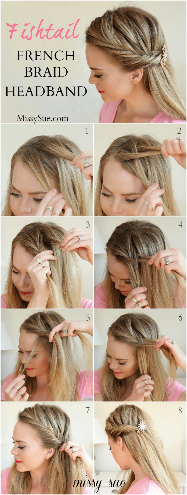 Fishtail French Braid Headband | MissySue.com