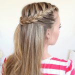 Half Up French Braids