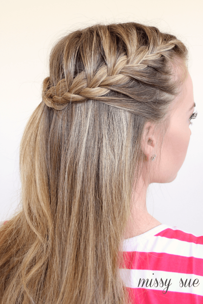 Surprising Braid 11 Half Up French Braids Missy Sue Hairstyle Inspiration Daily Dogsangcom