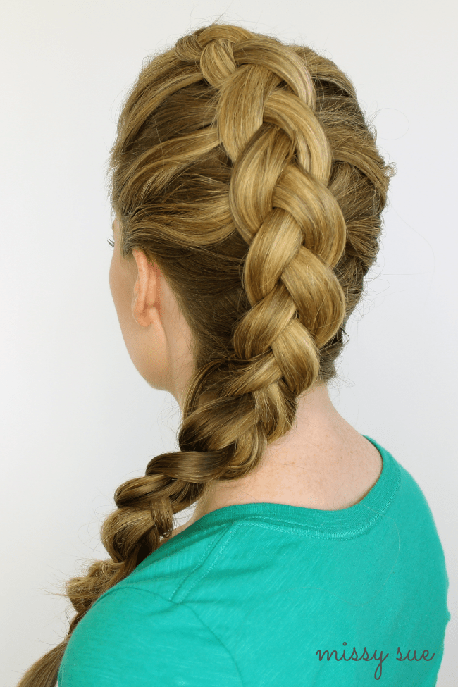 Dutch Braided Headband: Braid 1-Mohawk Dutch Braid