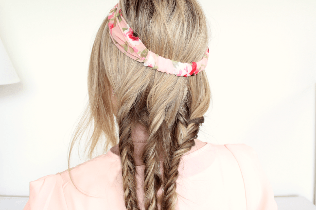 Tuck and Cover Fishtail Braids | MissySue.com