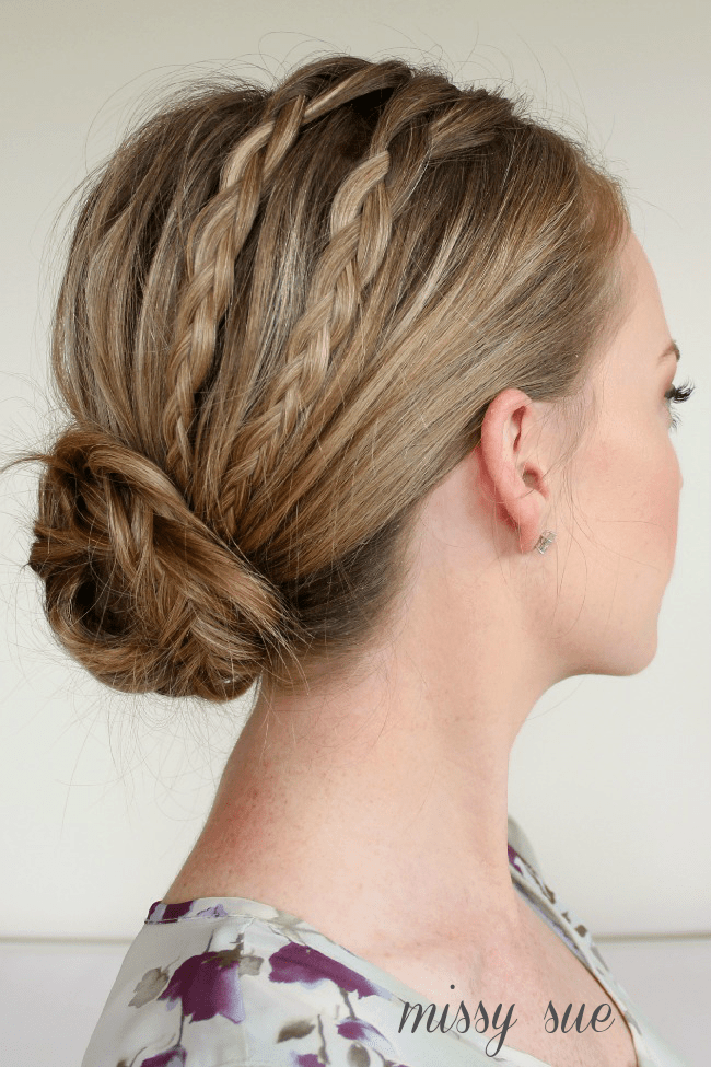 Two Braids into a Fishtail Bun
