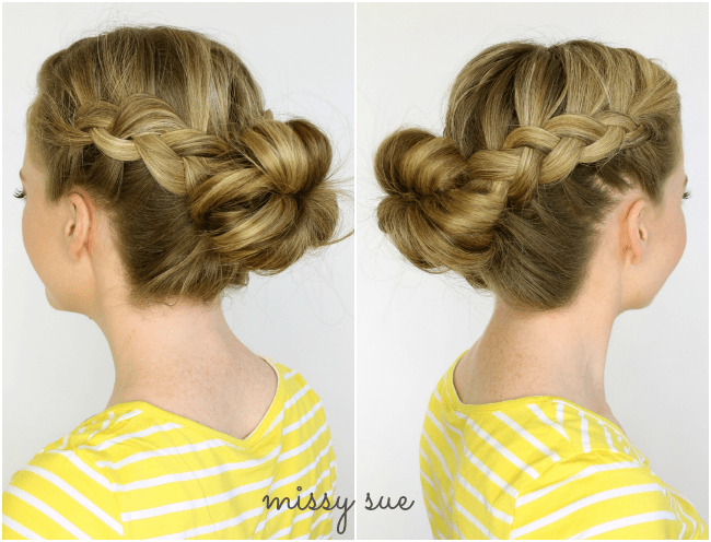 Two Dutch Braids to Bun | MissySue.com