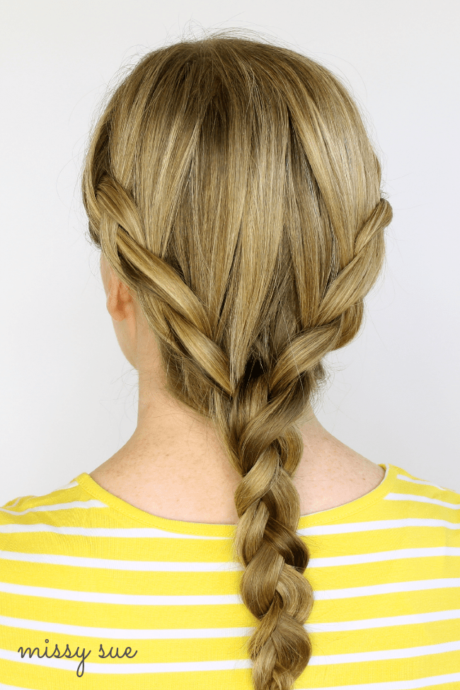 Two Dutch Braids into Braid | MissySue.com