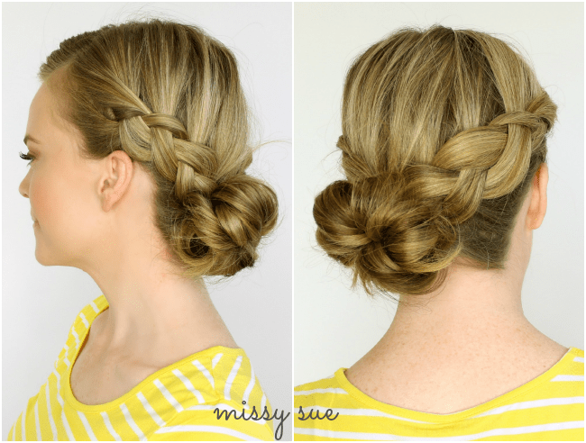 Two Dutch Braids to Low Bun | MissySue.com