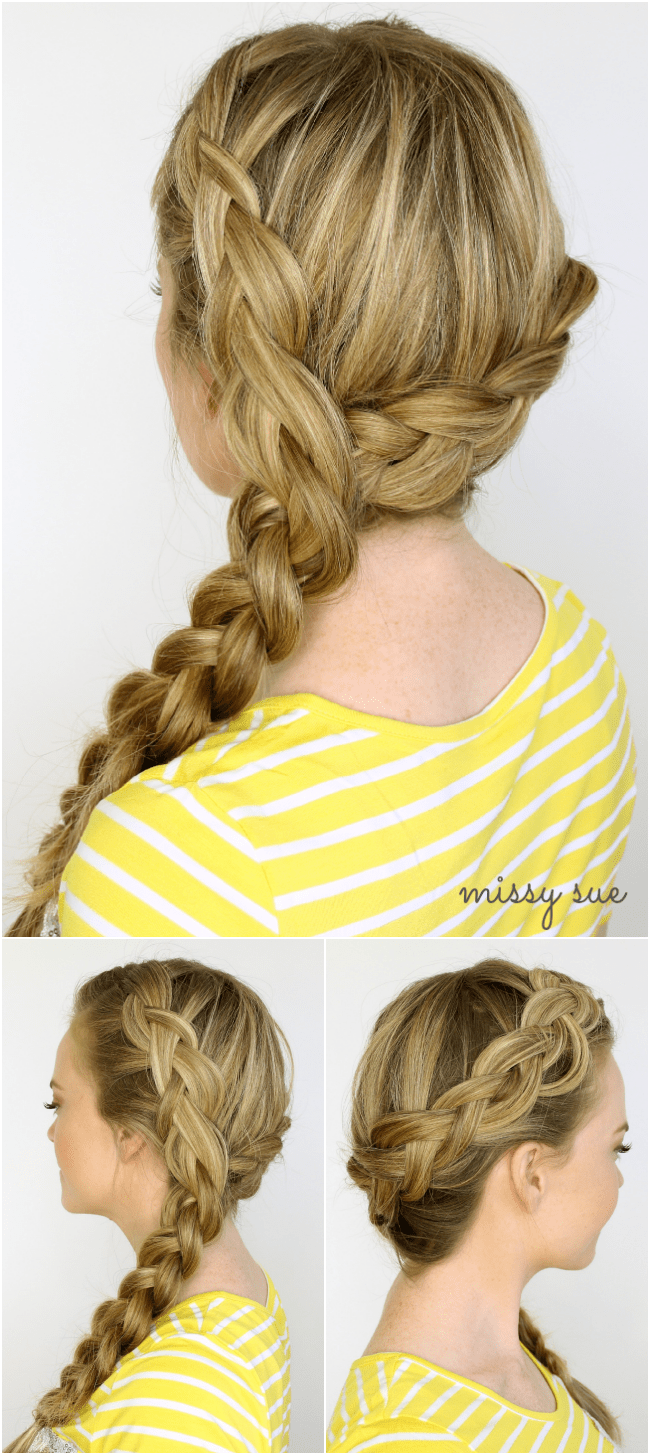 Two Dutch Braids to Side Braid | MissySue.com
