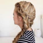 Waterfall French Braid and Side Fishtail Braid