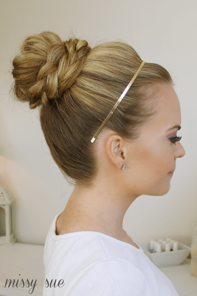 Braid Wrapped High Bun | MissySue