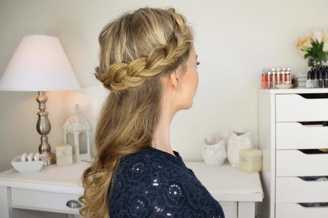 Peachy Half Up Crown Braid Hairstyles For Women Draintrainus