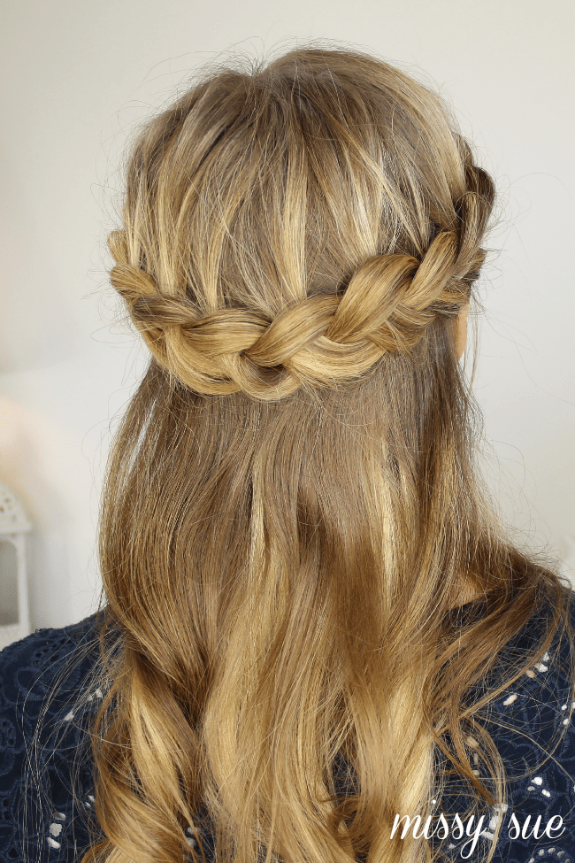 Half Up Crown Braid