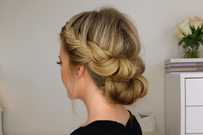 T&C French Braid Half with a Bun