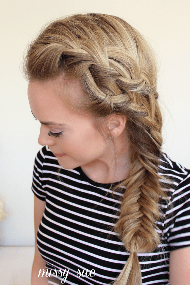 Braid hairstyles tutorial for medium hair