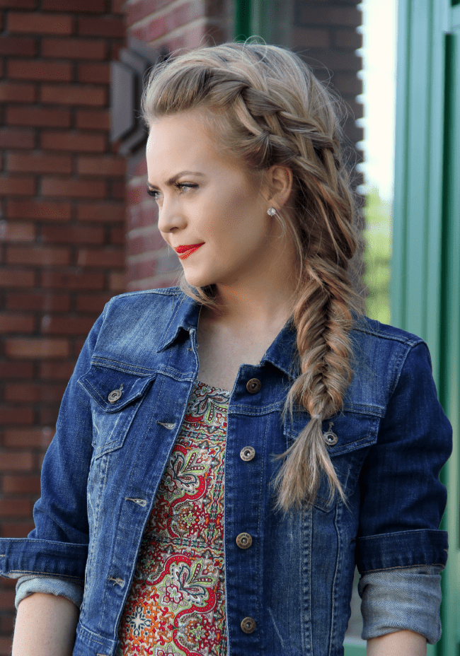 Double Waterfall and Fishtail Braid