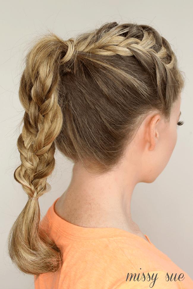 Tremendous Triple French Braid Double Waterfall Ponytail Short Hairstyles For Black Women Fulllsitofus