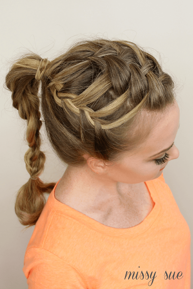 triple-french-braid-double-waterfall-ponytail