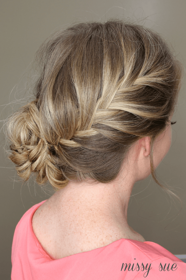 Fishtail French Braid Braided Bun | MissySue.com