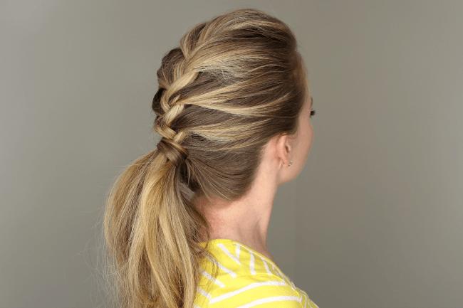 Surprising French Braid Ponytail Short Hairstyles Gunalazisus