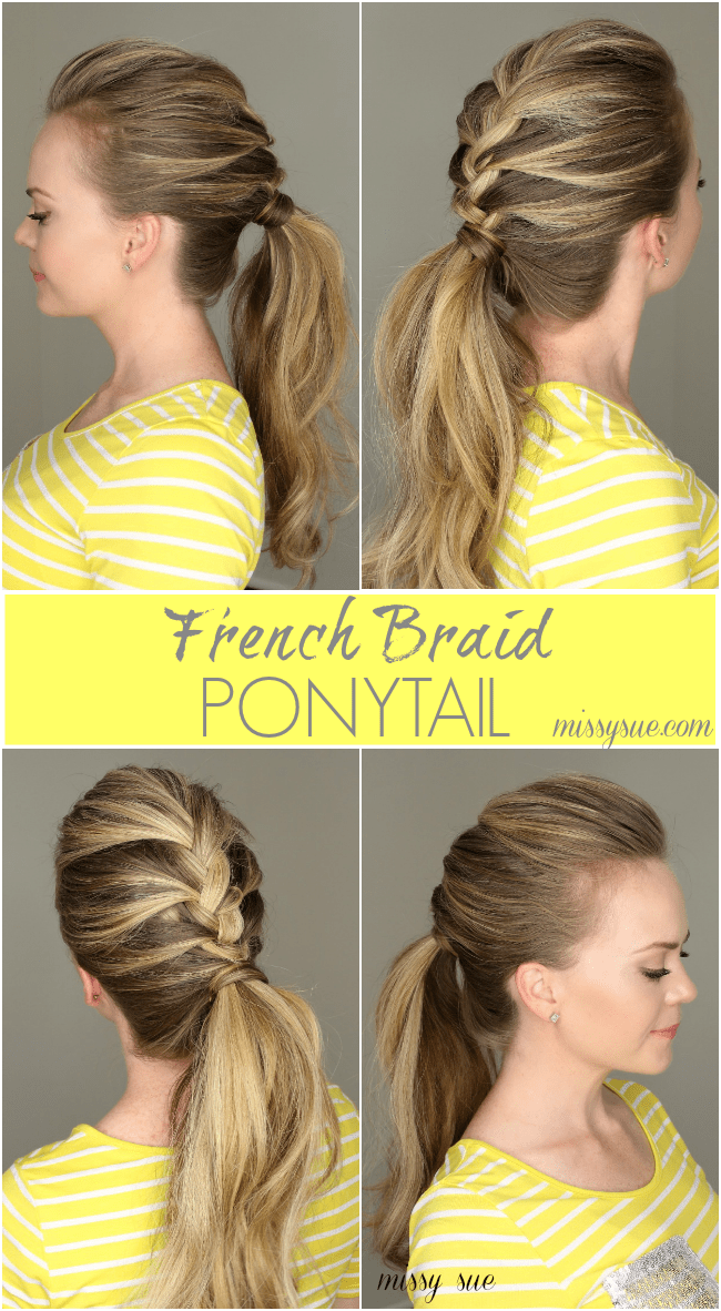 Marvelous French Braid Ponytail Hairstyles For Women Draintrainus