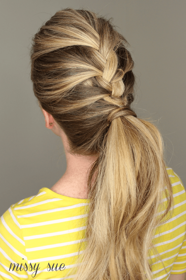 French Braid Ponytail | MissySue.com